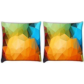 Snoogg Pack Of 3 Digitally Printed Cushion Cover Pillows 20 X 20 Inch