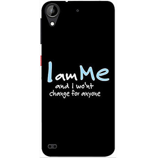 Casotec Quotes Design 3D Printed Hard Back Case Cover for HTC Desire 530