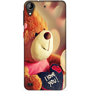 Casotec Teddy Bear Design 3D Printed Hard Back Case Cover for HTC Desire 530