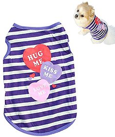 Futaba Fashion Puppy Stripe Vest T Shirt - M