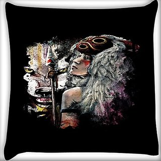 Snoogg Adivasi Girl 18 X 18 Inch Throw Pillow Case Sham Pattern Zipper Pillowslip Pillowcase For Drawing Room Sofa Couch Chair Back Seat