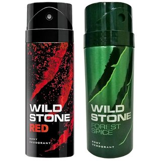Wild Stone Red, Forest Spice Deodorant (Set of 2) 150ml each