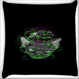Snoogg Abstract Smelling Mouse 20 X 20 Inch Throw Pillow Case Sham Pattern Zipper Pillowslip Pillowcase For Drawing Room Sofa Couch Chair Back Seat