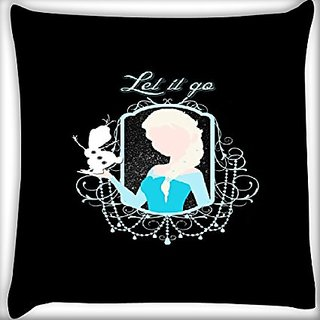 Snoogg Let It Go 24 X 24 Inch Throw Pillow Case Sham Pattern Zipper Pillowslip Pillowcase For Drawing Room Sofa Couch Chair Back Seat