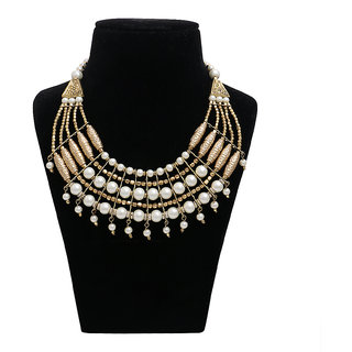 Minha Non Plated Multicolor Alloy Necklace Set For Women