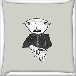 Snoogg Scary Man 24 X 24 Inch Throw Pillow Case Sham Pattern Zipper Pillowslip Pillowcase For Drawing Room Sofa Couch Chair Back Seat
