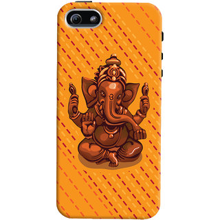 ColourCrust Lord Ganesha Ganpati Devotional Printed Designer Back Cover For Apple iPhone 5 Mobile Phone - Matte Finish Hard Plastic Slim Case