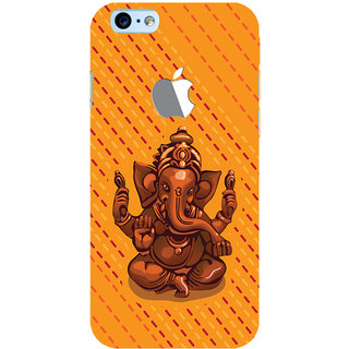 ColourCrust Lord Ganesha Ganpati Devotional Printed Designer Back Cover For New Apple iPhone 6 with Logo Mobile Phone - Matte Finish Hard Plastic Slim Case