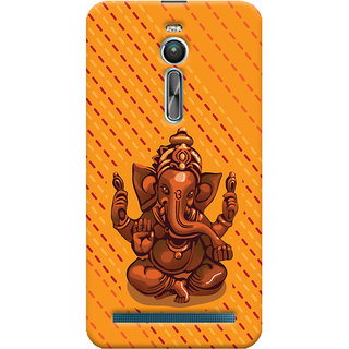ColourCrust Lord Ganesha Ganpati Devotional Printed Designer Back Cover For Asus Zenfone 2 ZE550ML Mobile Phone - Matte Finish Hard Plastic Slim Case