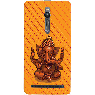 ColourCrust Lord Ganesha Ganpati Devotional Printed Designer Back Cover For Asus Zenfone 2 ZE551ML Mobile Phone - Matte Finish Hard Plastic Slim Case