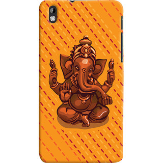ColourCrust Lord Ganesha Ganpati Devotional Printed Designer Back Cover For HTC Desire 816 / 816G Dual Sim Mobile Phone - Matte Finish Hard Plastic Slim Case