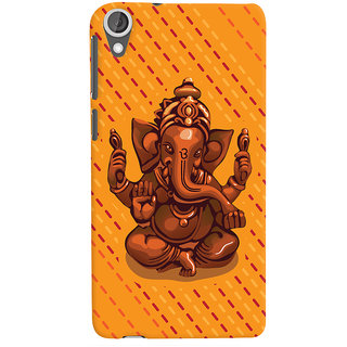 ColourCrust Lord Ganesha Ganpati Devotional Printed Designer Back Cover For HTC Desire 820 Dual Sim Mobile Phone - Matte Finish Hard Plastic Slim Case