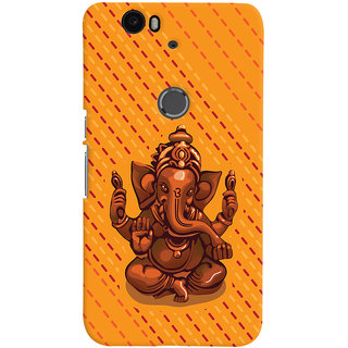 ColourCrust Lord Ganesha Ganpati Devotional Printed Designer Back Cover For Huawei Google Nexus 6P Mobile Phone - Matte Finish Hard Plastic Slim Case