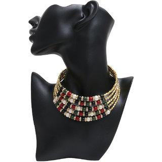 Minha Multicolor Chokar Necklace For Women