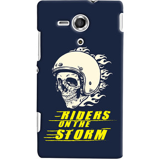 ColourCrust Riders On The Storm Printed Designer Back Cover For Sony Xperia SP Mobile Phone - Matte Finish Hard Plastic Slim Case