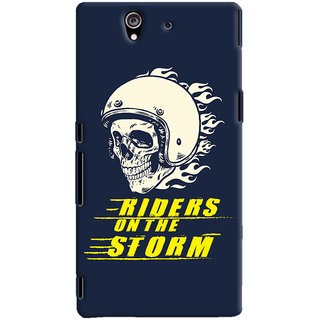 ColourCrust Riders On The Storm Printed Designer Back Cover For Sony Xperia Z Mobile Phone - Matte Finish Hard Plastic Slim Case