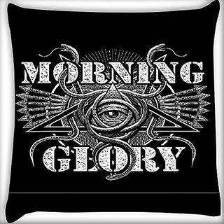 Snoogg Morning Glory 12 X 12 Inch Throw Pillow Case Sham Pattern Zipper Pillowslip Pillowcase For Drawing Room Sofa Couch Chair Back Seat