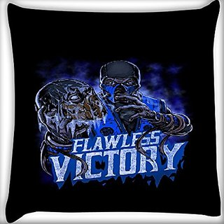 Snoogg Flawless Victory 18 X 18 Inch Throw Pillow Case Sham Pattern Zipper Pillowslip Pillowcase For Drawing Room Sofa Couch Chair Back Seat
