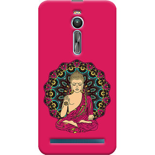 ColourCrust Lord Buddha Devotional Printed Designer Back Cover For Asus Zenfone 2 ZE550ML Mobile Phone - Matte Finish Hard Plastic Slim Case
