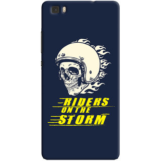 ColourCrust Riders On The Storm Printed Designer Back Cover For Huawei Ascend P8 / Dual Sim Mobile Phone - Matte Finish Hard Plastic Slim Case