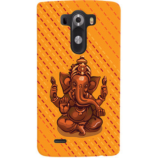 ColourCrust Lord Ganesha Ganpati Devotional Printed Designer Back Cover For LG G3/ Optimus G3 Mobile Phone - Matte Finish Hard Plastic Slim Case