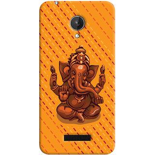 ColourCrust Lord Ganesha Ganpati Devotional Printed Designer Back Cover For Micromax Canvas Spark Q380 Mobile Phone - Matte Finish Hard Plastic Slim Case