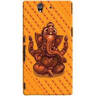 ColourCrust Lord Ganesha Ganpati Devotional Printed Designer Back Cover For Sony Xperia Z Mobile Phone - Matte Finish Hard Plastic Slim Case