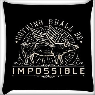 Snoogg Nothing Shall Be Impossible 12 X 12 Inch Throw Pillow Case Sham Pattern Zipper Pillowslip Pillowcase For Drawing Room Sofa Couch Chair Back Seat