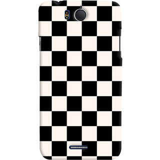 ColourCrust Black and White Checks Pattern Style Printed Designer Back Cover For Infocus M530 Mobile Phone - Matte Finish Hard Plastic Slim Case