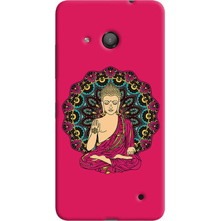 ColourCrust Lord Buddha Devotional Printed Designer Back Cover For Microsoft Lumia 550 Mobile Phone - Matte Finish Hard Plastic Slim Case