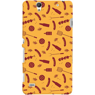 ColourCrust Sony Xperia C4 / Dual Sim Mobile Phone Back Cover With Party Time Pattern Style - Durable Matte Finish Hard Plastic Slim Case