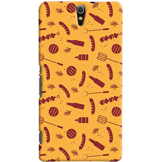 ColourCrust Sony Xperia C5 /Ultra Dual Sim Mobile Phone Back Cover With Party Time Pattern Style - Durable Matte Finish Hard Plastic Slim Case
