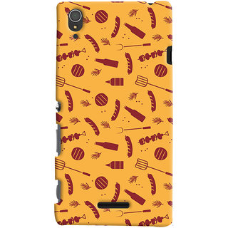 ColourCrust Sony Xperia T3 Mobile Phone Back Cover With Party Time Pattern Style - Durable Matte Finish Hard Plastic Slim Case
