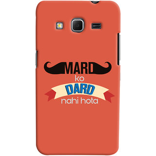 ColourCrust Samsung Galaxy Core Prime G360 Mobile Phone Back Cover With Mard Ko Dard Nahi Hota Quirky - Durable Matte Finish Hard Plastic Slim Case