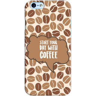 ColourCrust Apple iPhone 6S Mobile Phone Back Cover With Coffee Beans Pattern Style - Durable Matte Finish Hard Plastic Slim Case