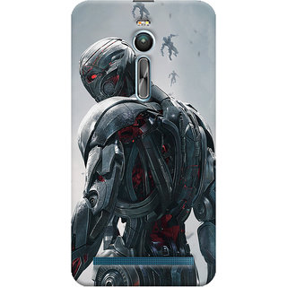 ColourCrust Asus Zenfone 2 ZE550ML Mobile Phone Back Cover With Ultron Back - Durable Matte Finish Hard Plastic Slim Case
