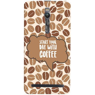 ColourCrust Asus Zenfone 2 ZE551ML Mobile Phone Back Cover With Coffee Beans Pattern Style - Durable Matte Finish Hard Plastic Slim Case