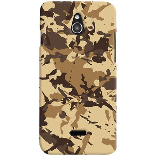 ColourCrust Infocus M2 Mobile Phone Back Cover With Millitary Pattern Style - Durable Matte Finish Hard Plastic Slim Case