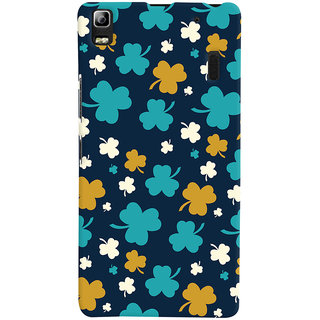 ColourCrust Lenovo K3 Note / A7000 Turbo Mobile Phone Back Cover With Floral Pattern - Durable Matte Finish Hard Plastic Slim Case