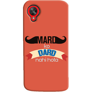 ColourCrust LG Google Nexus 5 Mobile Phone Back Cover With Mard Ko Dard Nahi Hota Quirky - Durable Matte Finish Hard Plastic Slim Case