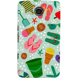 ColourCrust Motorola Google Nexus 6 Mobile Phone Back Cover With Beach Time Pattern - Durable Matte Finish Hard Plastic Slim Case
