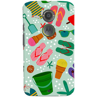 ColourCrust Motorola Moto X2 Mobile Phone Back Cover With Beach Time Pattern - Durable Matte Finish Hard Plastic Slim Case