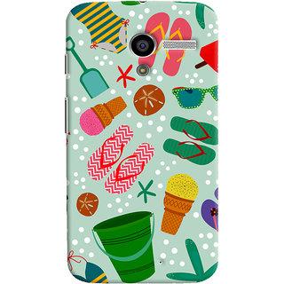 ColourCrust Motorola Moto X Mobile Phone Back Cover With Beach Time Pattern - Durable Matte Finish Hard Plastic Slim Case