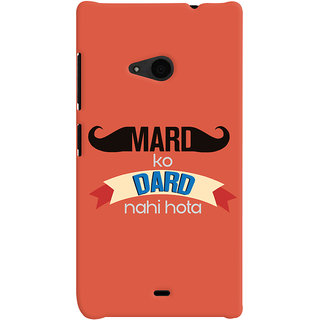 ColourCrust Microsoft Lumia 535 / Dual Sim Mobile Phone Back Cover With Mard Ko Dard Nahi Hota Quirky - Durable Matte Finish Hard Plastic Slim Case