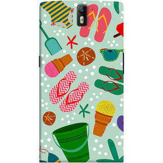 ColourCrust OnePlus One Mobile Phone Back Cover With Beach Time Pattern - Durable Matte Finish Hard Plastic Slim Case