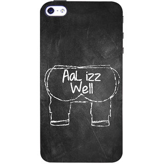 ColourCrust Apple iPhone 4 Mobile Phone Back Cover With Aal Izz Well Quirky - Durable Matte Finish Hard Plastic Slim Case