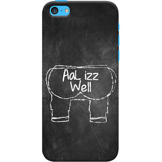 ColourCrust Apple iPhone 5C Mobile Phone Back Cover With Aal Izz Well Quirky - Durable Matte Finish Hard Plastic Slim Case