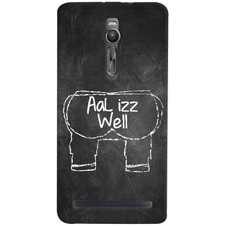 ColourCrust Asus Zenfone 2 ZE551ML Mobile Phone Back Cover With Aal Izz Well Quirky - Durable Matte Finish Hard Plastic Slim Case