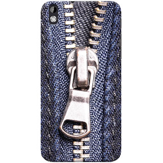 ColourCrust HTC Desire 816 Mobile Phone Back Cover With Denim Look - Durable Matte Finish Hard Plastic Slim Case