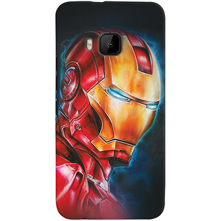ColourCrust HTC One M9 Mobile Phone Back Cover With Iron Man - Durable Matte Finish Hard Plastic Slim Case